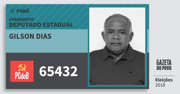 Santinho Gilson Dias 65432 (PC do B) Deputado Estadual | Pará | Eleições 2018