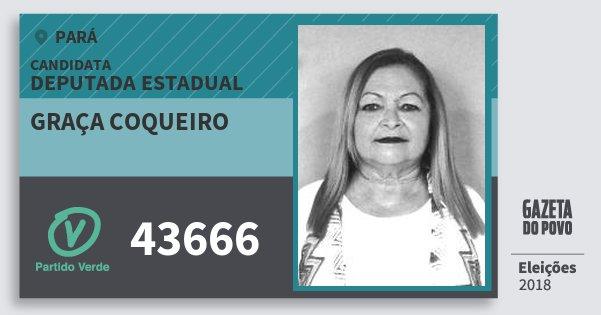 Santinho Graça Coqueiro 43666 (PV) Deputada Estadual | Pará | Eleições 2018