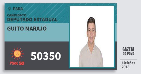 Santinho Guito Marajó 50350 (PSOL) Deputado Estadual | Pará | Eleições 2018