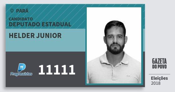 Santinho Helder Junior 11111 (PP) Deputado Estadual | Pará | Eleições 2018