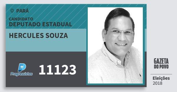 Santinho Hercules Souza 11123 (PP) Deputado Estadual | Pará | Eleições 2018