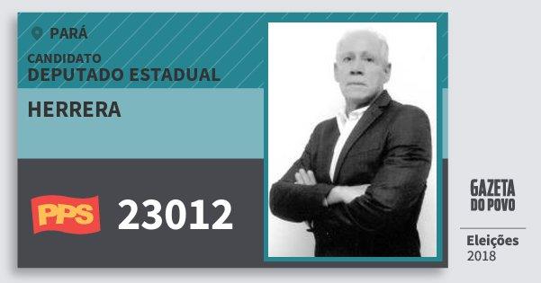 Santinho Herrera 23012 (PPS) Deputado Estadual | Pará | Eleições 2018