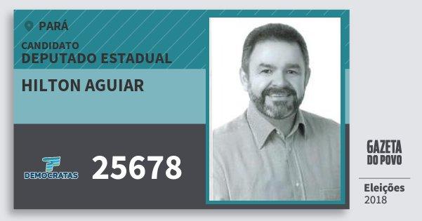 Santinho Hilton Aguiar 25678 (DEM) Deputado Estadual | Pará | Eleições 2018