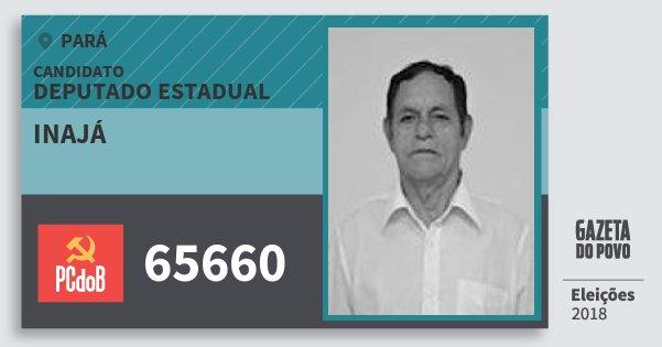 Santinho Inajá 65660 (PC do B) Deputado Estadual | Pará | Eleições 2018