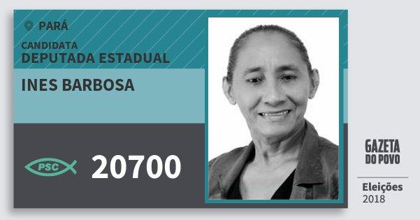 Santinho Ines Barbosa 20700 (PSC) Deputada Estadual | Pará | Eleições 2018