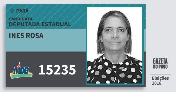 Santinho Ines Rosa 15235 (MDB) Deputada Estadual | Pará | Eleições 2018