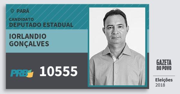 Santinho Iorlandio Gonçalves 10555 (PRB) Deputado Estadual | Pará | Eleições 2018
