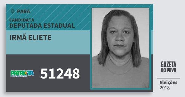 Santinho Irmã Eliete 51248 (PATRI) Deputada Estadual | Pará | Eleições 2018
