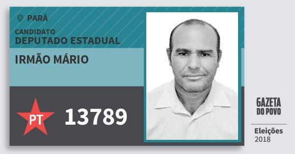 Santinho Irmão Mário 13789 (PT) Deputado Estadual | Pará | Eleições 2018