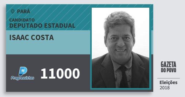 Santinho Isaac Costa 11000 (PP) Deputado Estadual | Pará | Eleições 2018