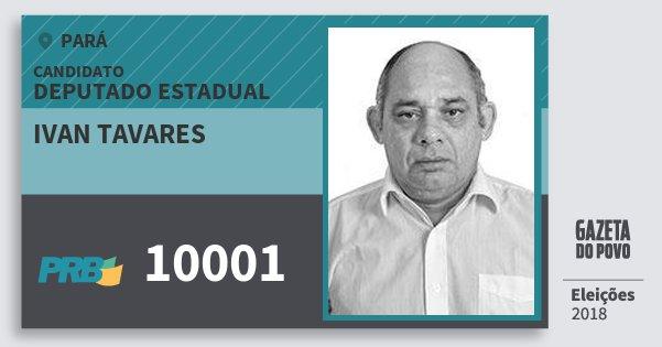 Santinho Ivan Tavares 10001 (PRB) Deputado Estadual   Pará   Eleições 2018