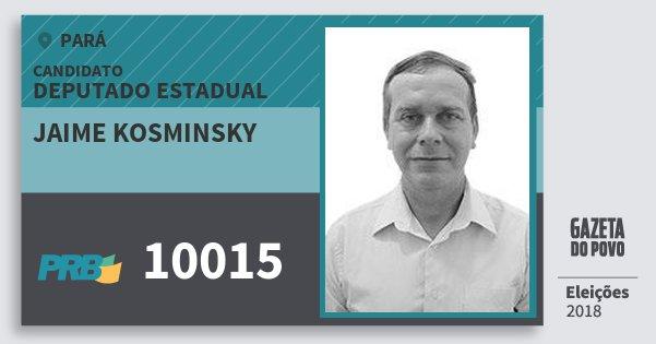 Santinho Jaime Kosminsky 10015 (PRB) Deputado Estadual | Pará | Eleições 2018
