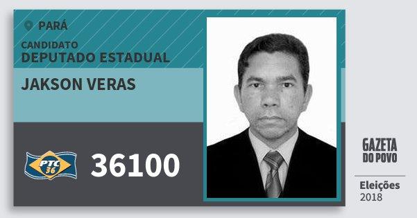 Santinho Jakson Veras 36100 (PTC) Deputado Estadual | Pará | Eleições 2018