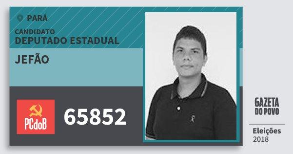 Santinho Jefão 65852 (PC do B) Deputado Estadual | Pará | Eleições 2018