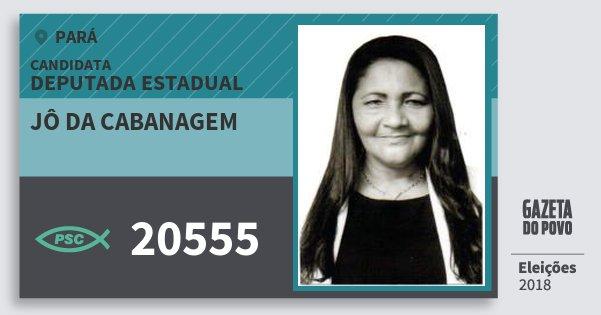 Santinho Jô da Cabanagem 20555 (PSC) Deputada Estadual | Pará | Eleições 2018