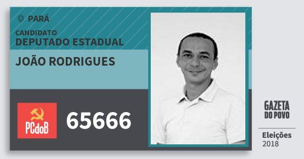 Santinho João Rodrigues 65666 (PC do B) Deputado Estadual | Pará | Eleições 2018