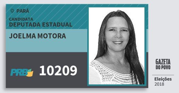 Santinho Joelma Motora 10209 (PRB) Deputada Estadual | Pará | Eleições 2018