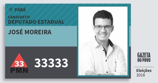 Santinho José Moreira 33333 (PMN) Deputado Estadual | Pará | Eleições 2018