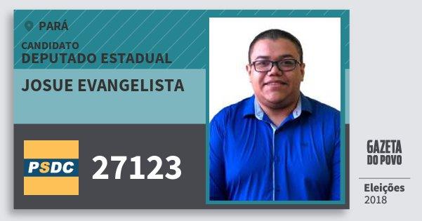 Santinho Josue Evangelista 27123 (DC) Deputado Estadual | Pará | Eleições 2018