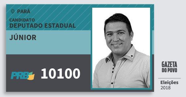 Santinho Júnior 10100 (PRB) Deputado Estadual | Pará | Eleições 2018
