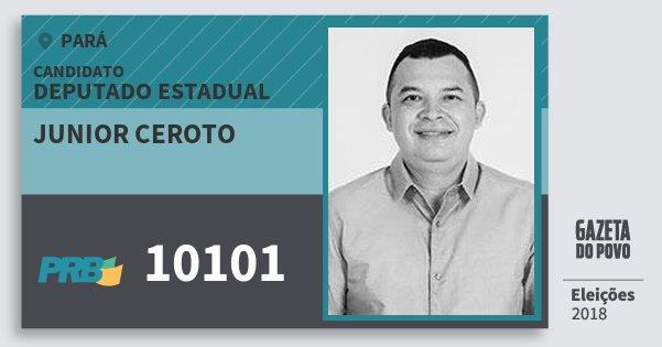 Santinho Junior Ceroto 10101 (PRB) Deputado Estadual | Pará | Eleições 2018