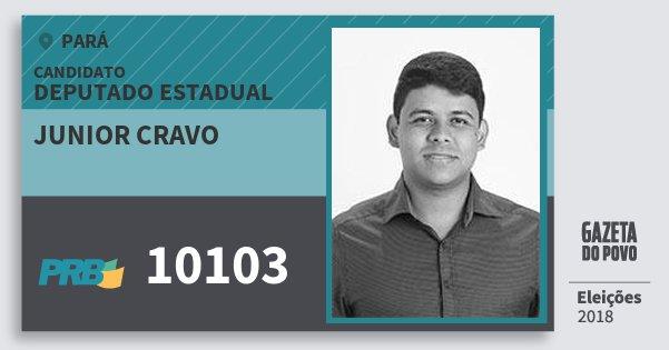 Santinho Junior Cravo 10103 (PRB) Deputado Estadual | Pará | Eleições 2018