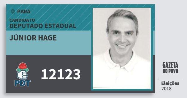 Santinho Júnior Hage 12123 (PDT) Deputado Estadual | Pará | Eleições 2018