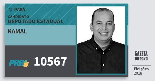 Santinho Kamal 10567 (PRB) Deputado Estadual | Pará | Eleições 2018
