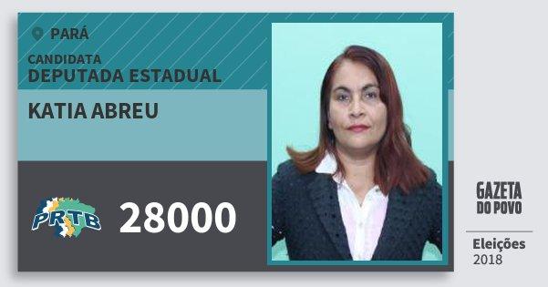 Santinho Katia Abreu 28000 (PRTB) Deputada Estadual | Pará | Eleições 2018