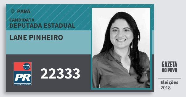 Santinho Lane Pinheiro 22333 (PR) Deputada Estadual | Pará | Eleições 2018