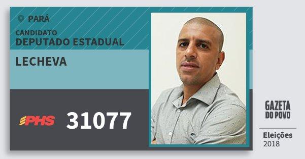 Santinho Lecheva 31077 (PHS) Deputado Estadual | Pará | Eleições 2018