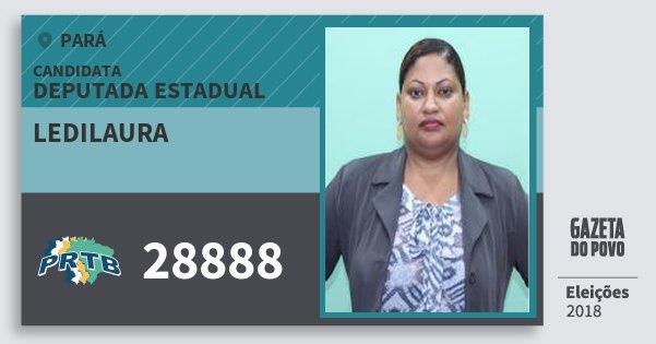 Santinho Ledilaura 28888 (PRTB) Deputada Estadual | Pará | Eleições 2018