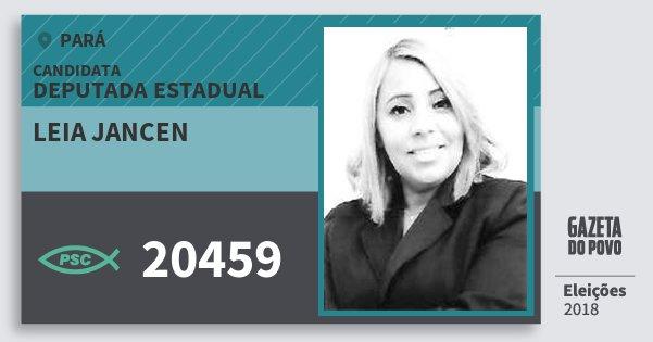 Santinho Leia Jancen 20459 (PSC) Deputada Estadual   Pará   Eleições 2018