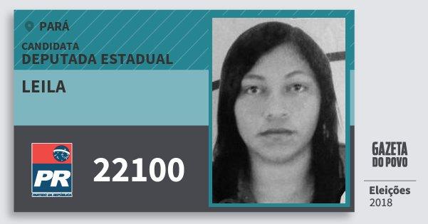 Santinho Leila 22100 (PR) Deputada Estadual | Pará | Eleições 2018