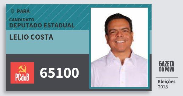 Santinho Lelio Costa 65100 (PC do B) Deputado Estadual | Pará | Eleições 2018