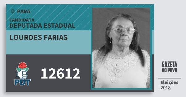Santinho Lourdes Farias 12612 (PDT) Deputada Estadual | Pará | Eleições 2018