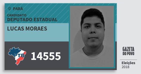 Santinho Lucas Moraes 14555 (PTB) Deputado Estadual | Pará | Eleições 2018