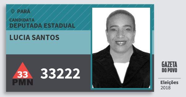 Santinho Lucia Santos 33222 (PMN) Deputada Estadual | Pará | Eleições 2018