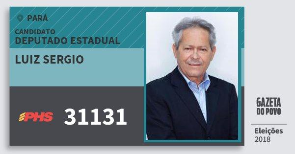 Santinho Luiz Sergio 31131 (PHS) Deputado Estadual | Pará | Eleições 2018