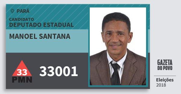 Santinho Manoel Santana 33001 (PMN) Deputado Estadual | Pará | Eleições 2018