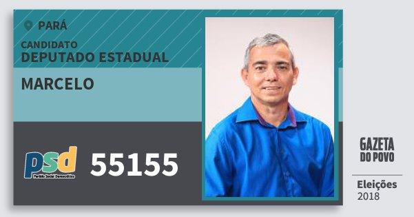 Santinho Marcelo 55155 (PSD) Deputado Estadual | Pará | Eleições 2018