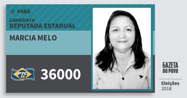Santinho Marcia Melo 36000 (PTC) Deputada Estadual | Pará | Eleições 2018