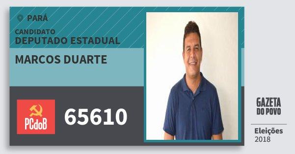 Santinho Marcos Duarte 65610 (PC do B) Deputado Estadual | Pará | Eleições 2018