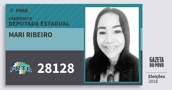 Santinho Mari Ribeiro 28128 (PRTB) Deputada Estadual | Pará | Eleições 2018