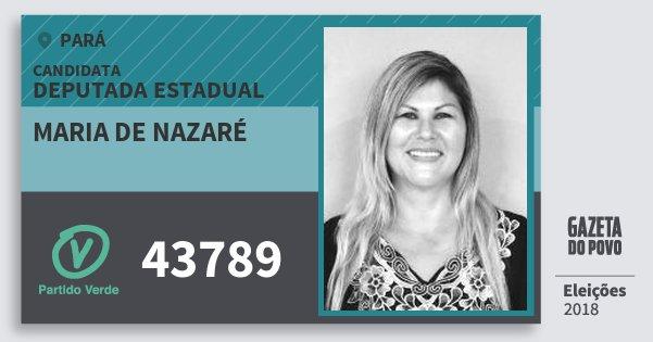 Santinho Maria de Nazaré 43789 (PV) Deputada Estadual | Pará | Eleições 2018