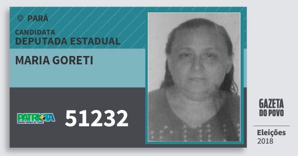 Santinho Maria Goreti 51232 (PATRI) Deputada Estadual | Pará | Eleições 2018