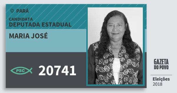 Santinho Maria José 20741 (PSC) Deputada Estadual | Pará | Eleições 2018