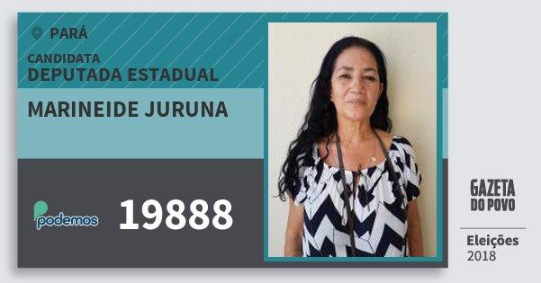 Santinho Marineide Juruna 19888 (PODE) Deputada Estadual | Pará | Eleições 2018