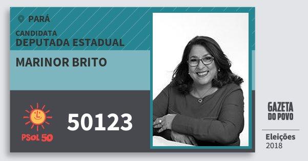 Santinho Marinor Brito 50123 (PSOL) Deputada Estadual | Pará | Eleições 2018