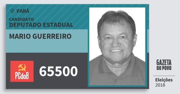 Santinho Mario Guerreiro 65500 (PC do B) Deputado Estadual | Pará | Eleições 2018